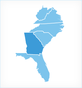 Georgia Region Map