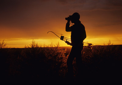 Bow Hunter at Sunrise